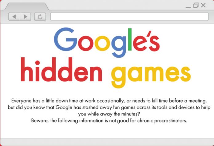 games tersembunyi di google